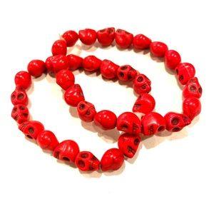Red skull bracelets